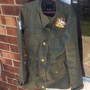 Girls Army Green Jacket 🧥